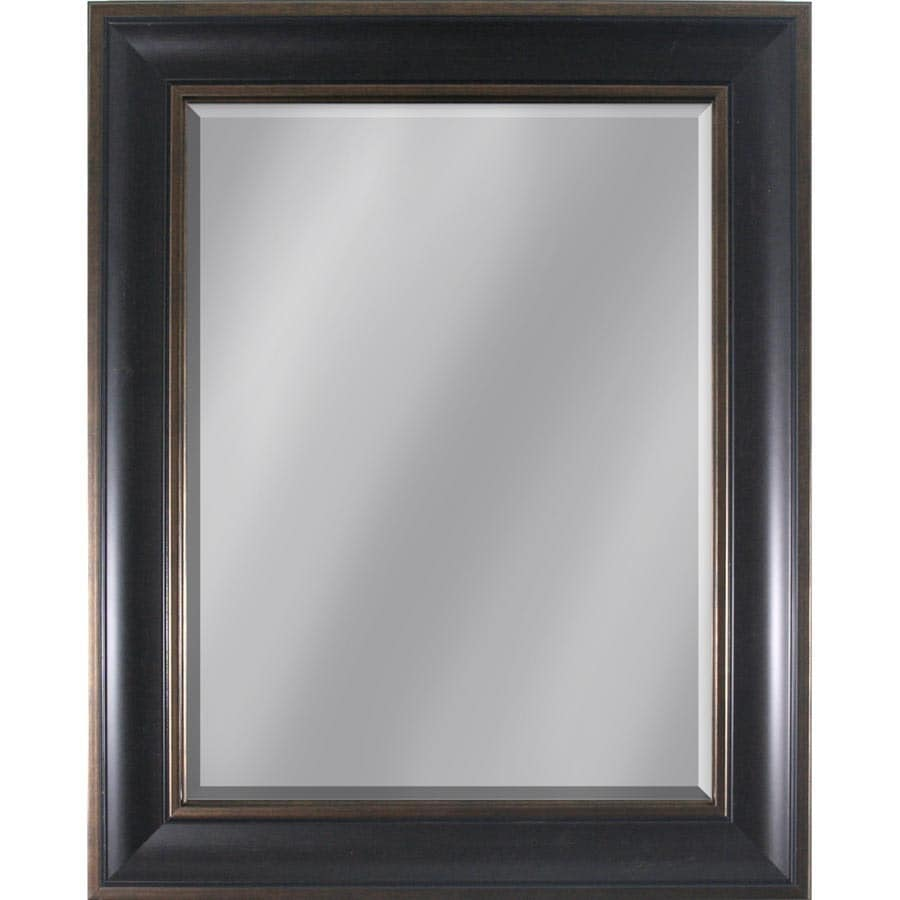 Style Selections Dark Brown Rectangle Framed Wall Mirror