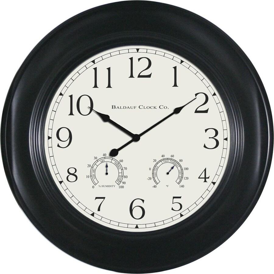 """allen + roth 24"""" Bronze Clock"""