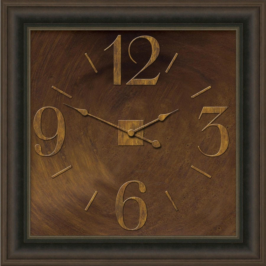 allen + roth Analog Square Indoor Wall Clock