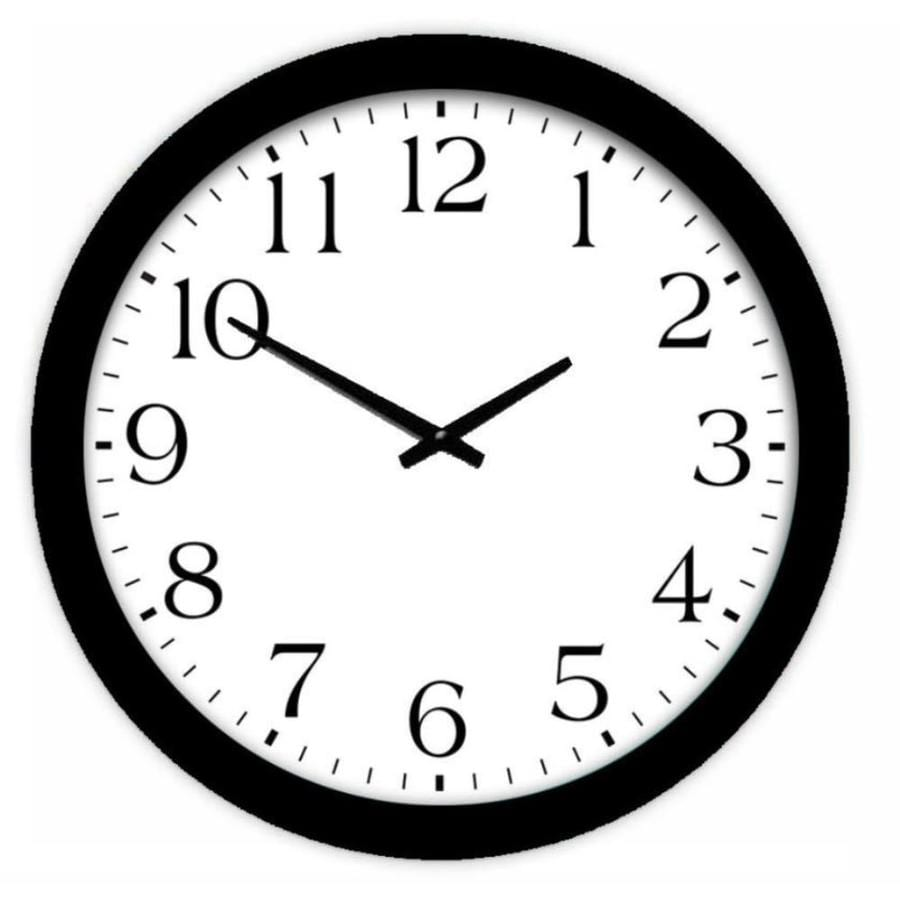 Style Selections Analog Round Indoor Wall Clock