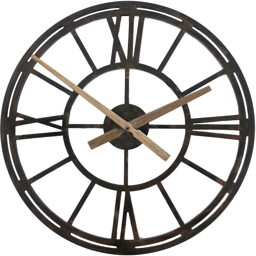 allen + roth 22-in Windsor Clock Oil Rubbed Bronze Clock