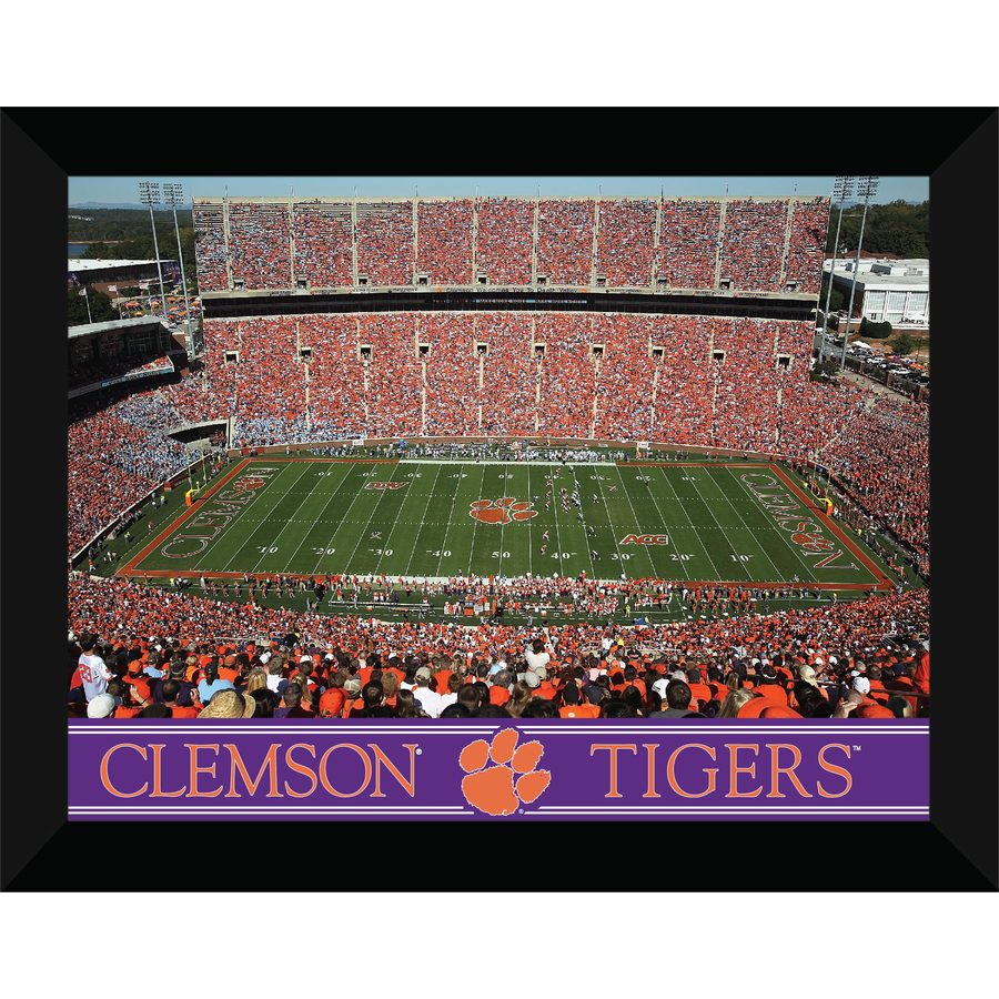 shop 22 in w x 18 in h clemson tigers framed wall art at With kitchen cabinets lowes with clemson tigers wall art
