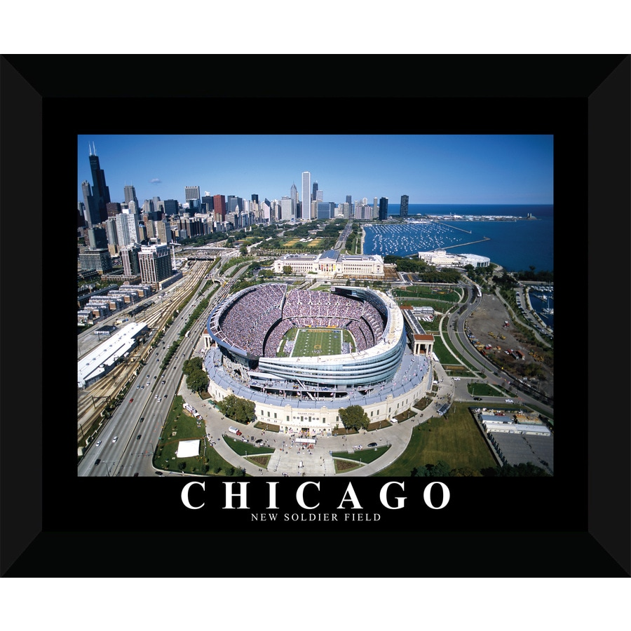 22-in W x 18-in H Framed Soldier Field Wall Art