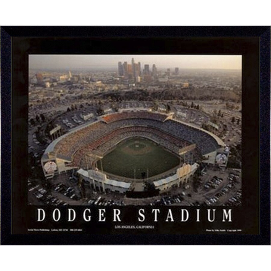 """26""""W x 32""""H Dodger Stadium Framed Wall Art"""