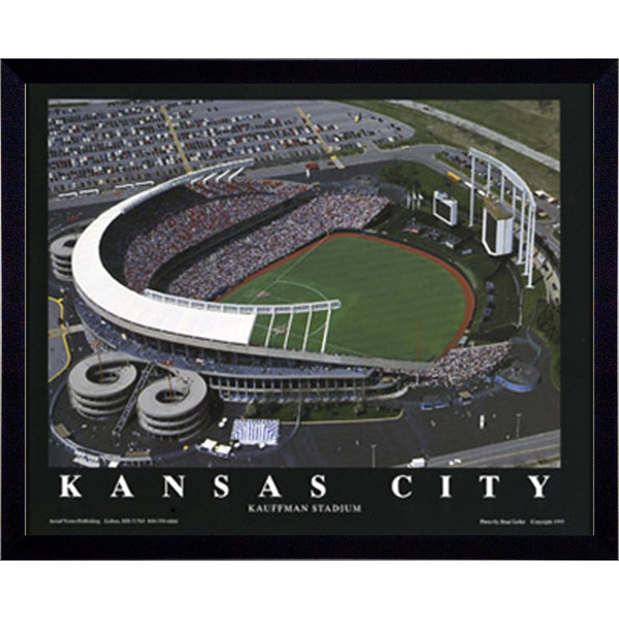 Shop 32 in w x 26 in h kansas city kauffman stadium for Kitchen cabinets lowes with kansas city wall art
