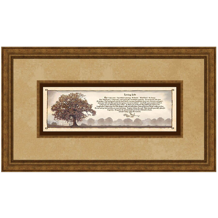 16.5-in W x 28.5-in H Inspirational Framed Art