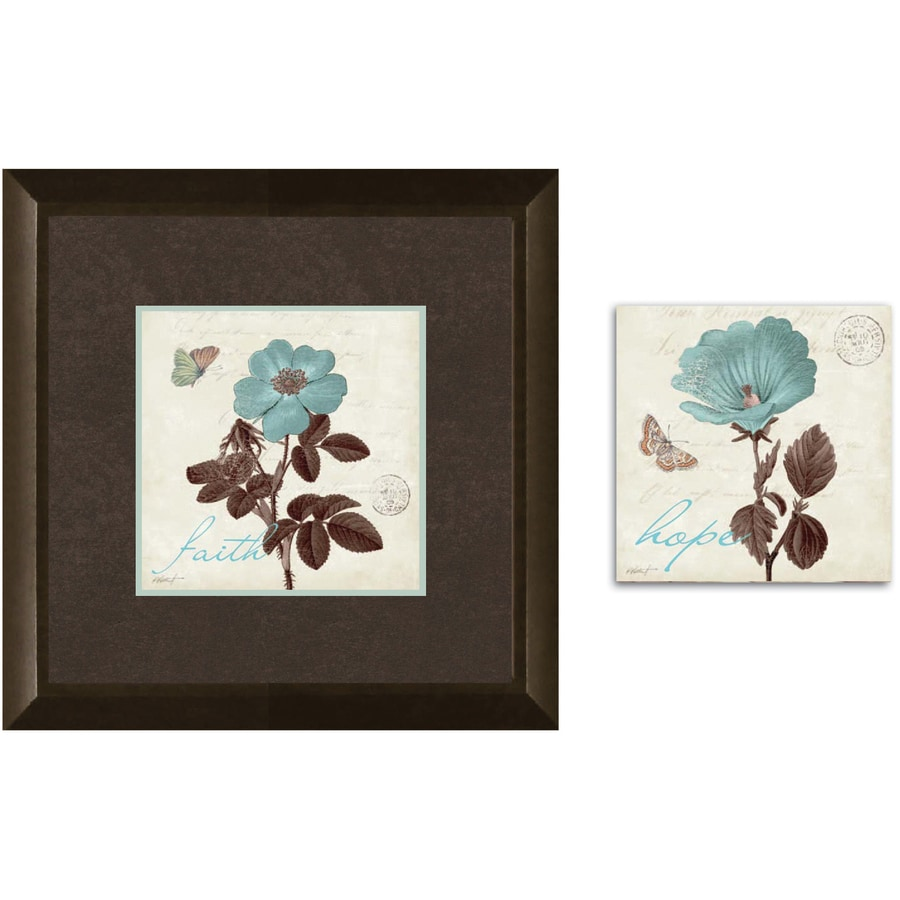 12-in W x 12-in H Floral Framed Art