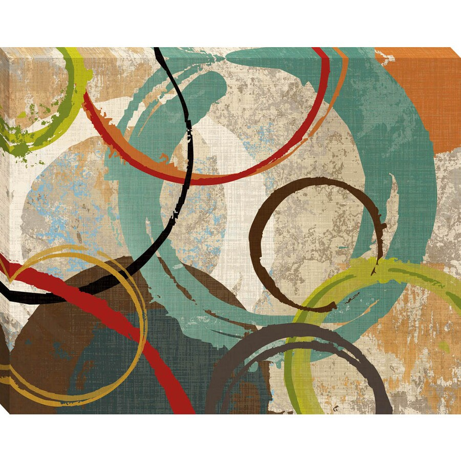 30-in W x 38-in H Abstract Canvas