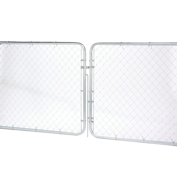 6 Ft H X 10 Ft W Galvanized Steel Chain Link Fence Gate In The Chain Link Fence Gates Department At Lowes Com