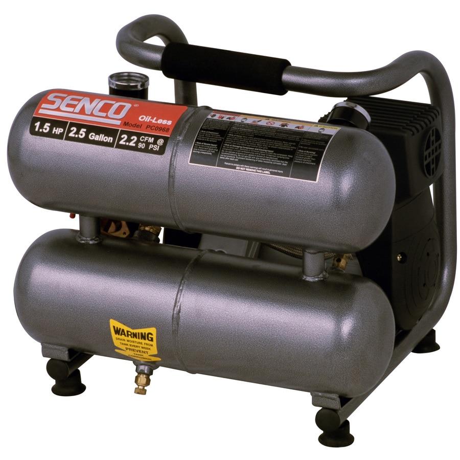 SENCO 2.5-Gallon 115-Volt Twin Stack Portable Electric Air Compressor