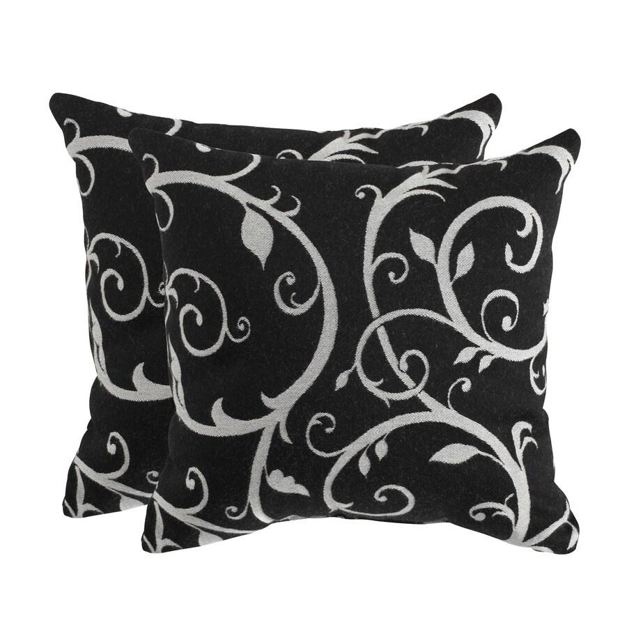 allen + roth Set of 2 Sunbrella Cabaret II Classic UV-Protected Square Outdoor Decorative Pillows