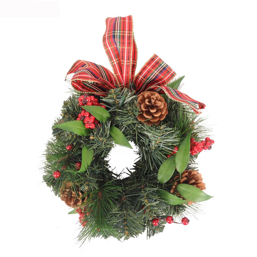 Holiday Living 10-in Green Artificial Wreath
