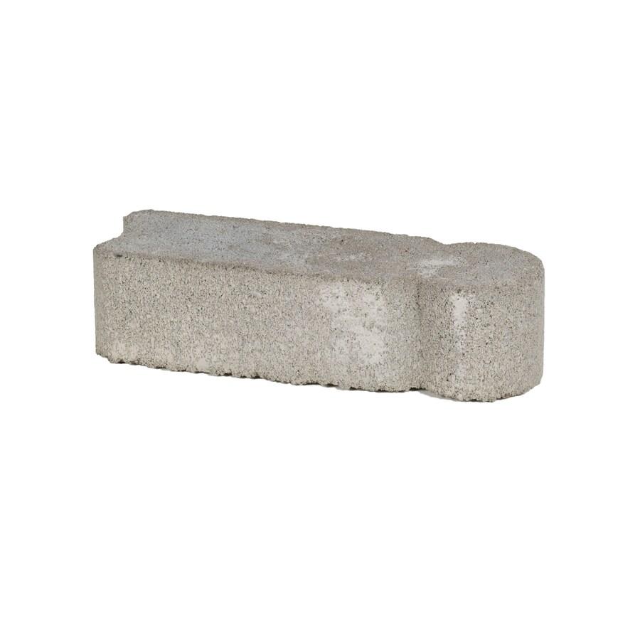 Gray Concrete Straight Edging Stone (Common: 3-in x 12-in; Actual: 3.2-in H x 11.8-in L)