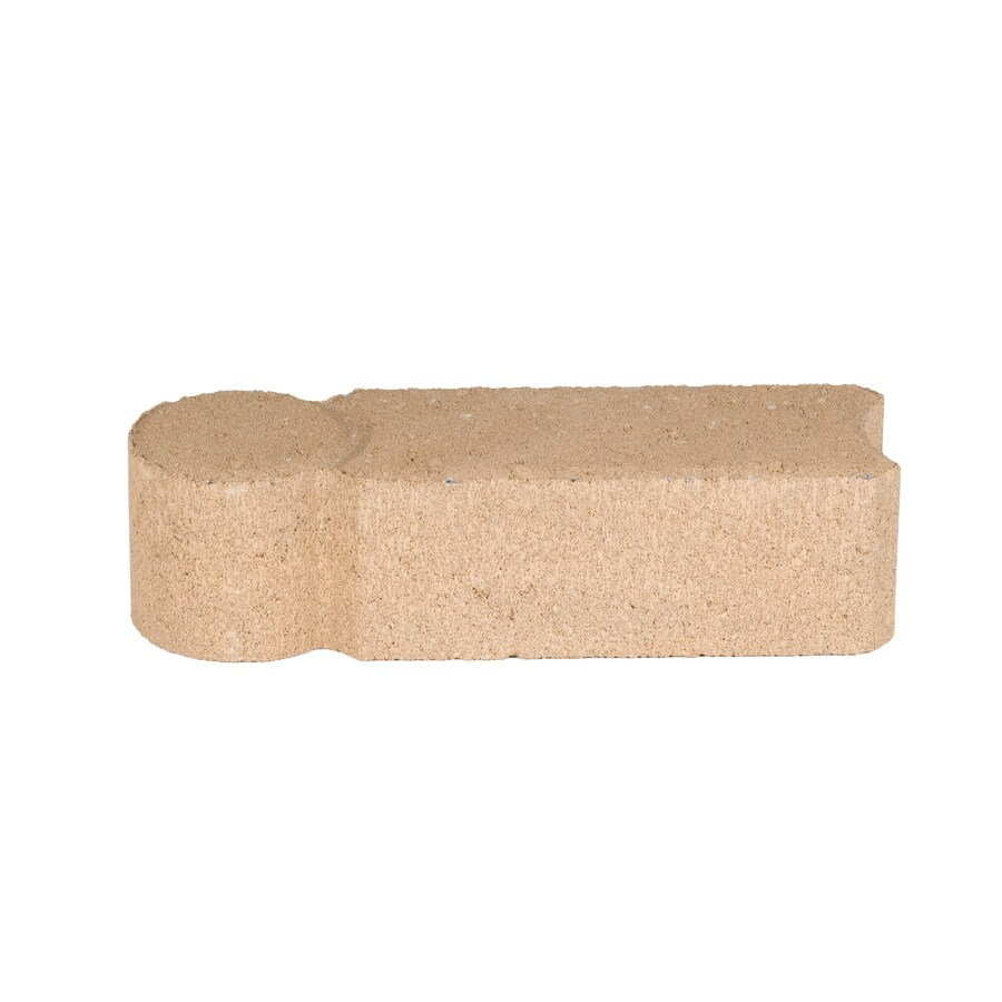 Tan Concrete Straight Edging Stone (Common: 3-in x 12-in; Actual: 3.2-in H x 11.8-in L)