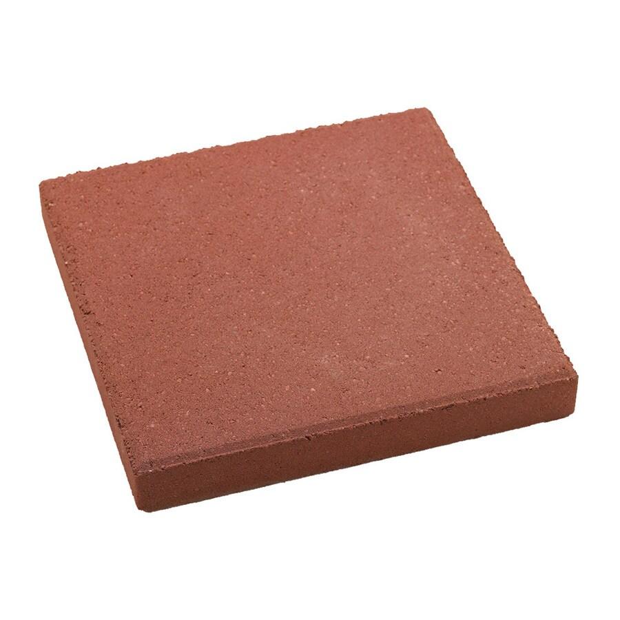 Red Square Concrete Patio Stone (Common: 12-in x 12-in; Actual: 11.7-in x 11.7-in)