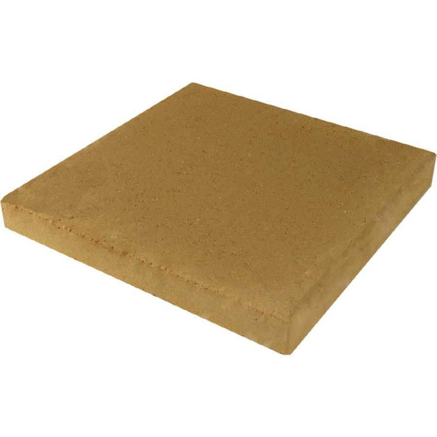Square Tan Patio Stone Common 12 In X Actual