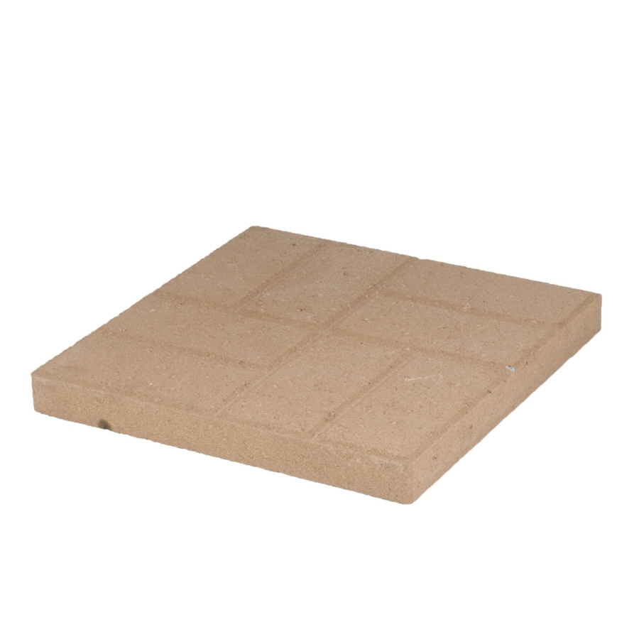 Tan Brickface Concrete Patio Stone (Common: 16-in x 16-in; Actual: 15.7-in x 15.7-in)