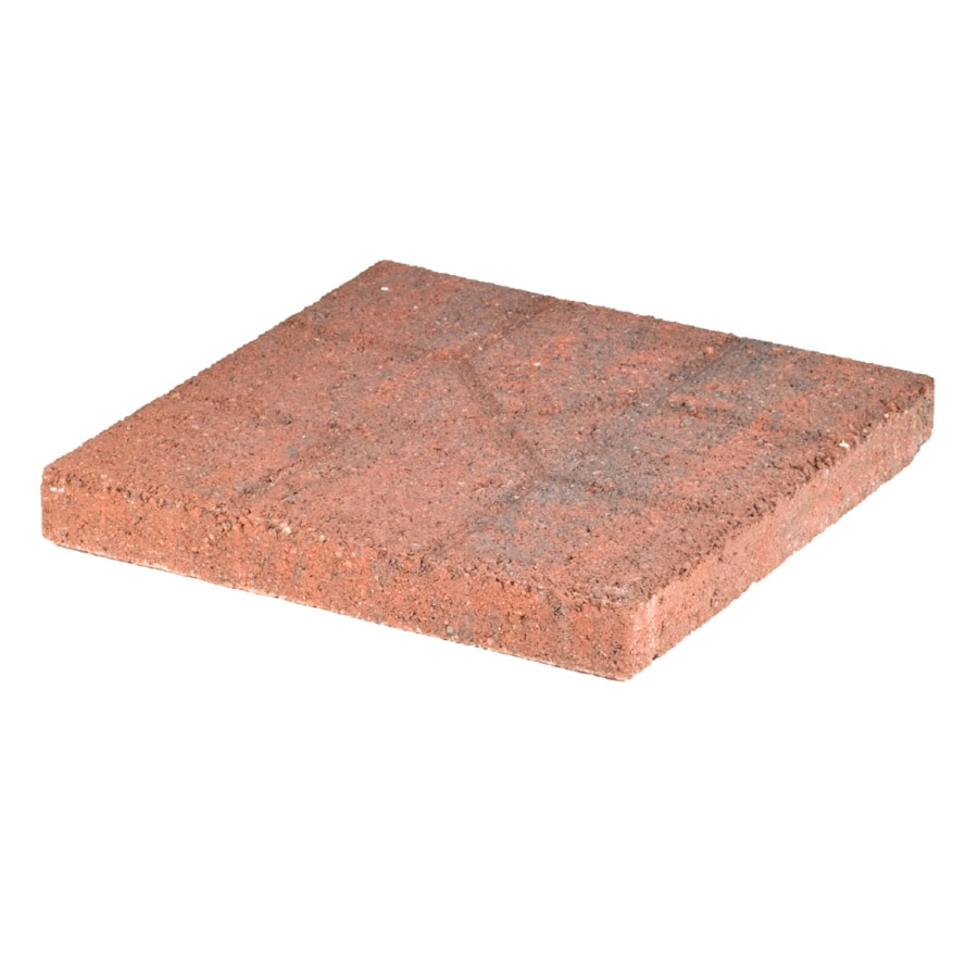Red Charcoal Concrete Patio Stone (Common: 16-in x 16-in; Actual: 15.6-in x 15.6-in)
