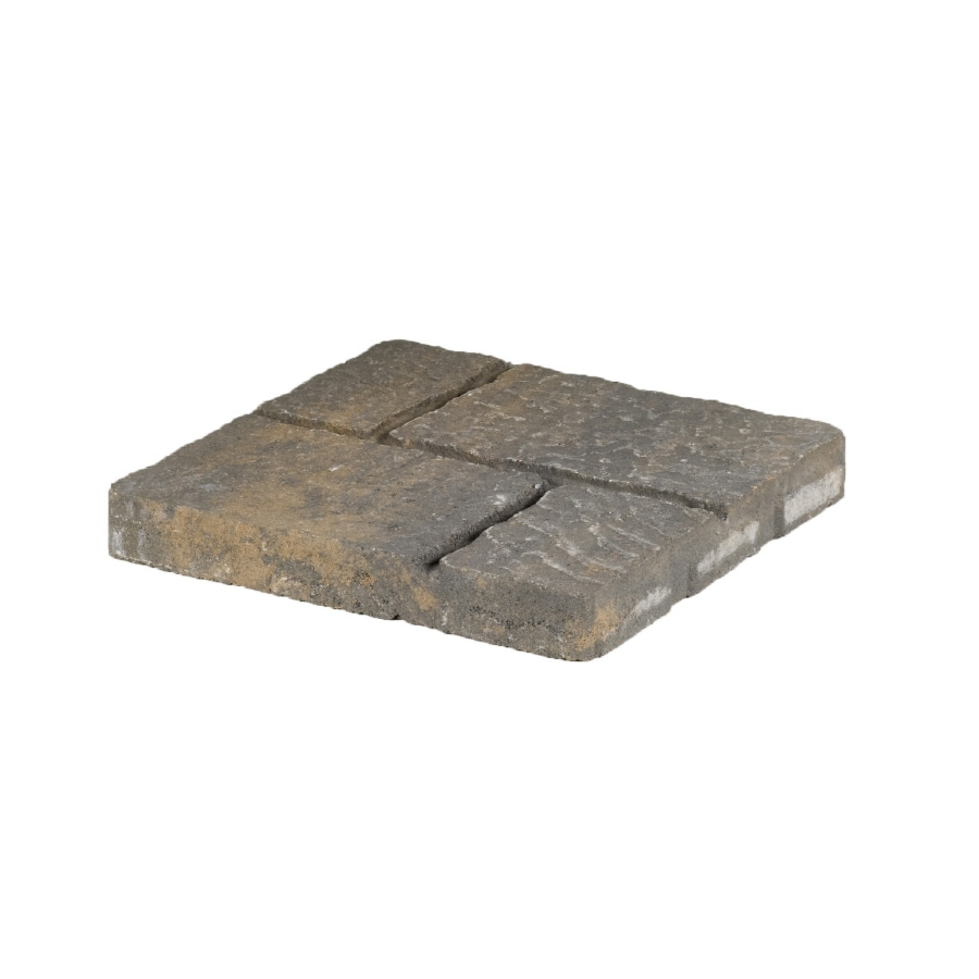 allen + roth Cassay Tan Charcoal Four-Cobble Patio Stone (Common: 16-in x 16-in; Actual: 15.7-in H x 15.7-in L)