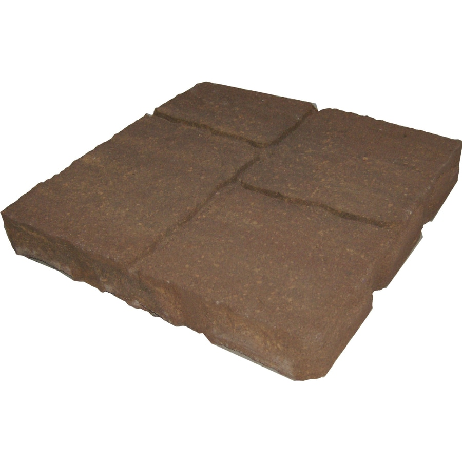 Tranquil Four-Cobble Concrete Patio Stone (Common: 16-in x 16-in; Actual: 15.7-in x 15.7-in)