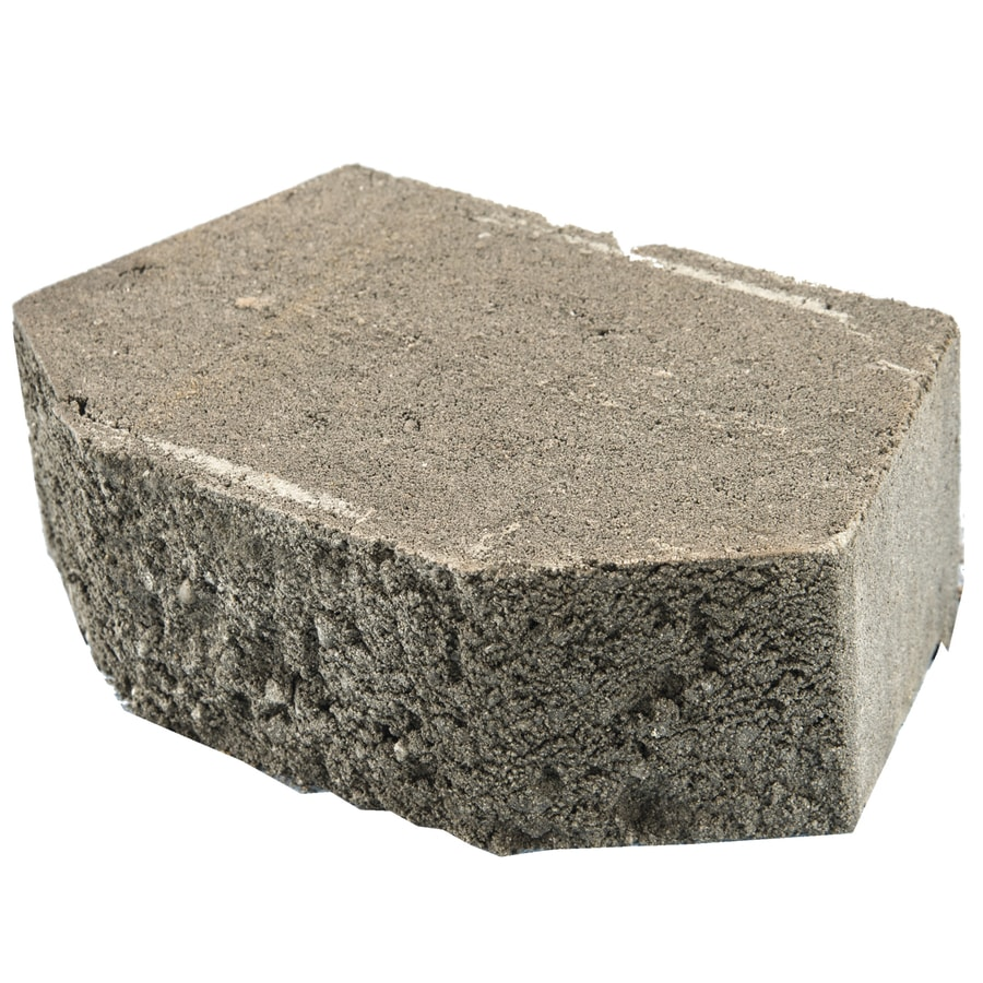 Gray Beveled Concrete Retaining Wall Block (Common: 12-in x 4-in; Actual: 11.5-in x 4-in)