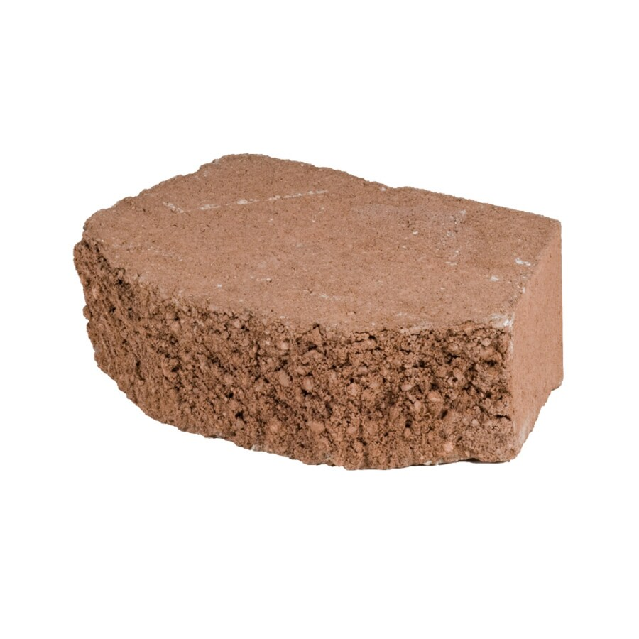 Terracotta Beveled Concrete Retaining Wall Block (Common: 12-in x 4-in; Actual: 11.5-in x 4-in)