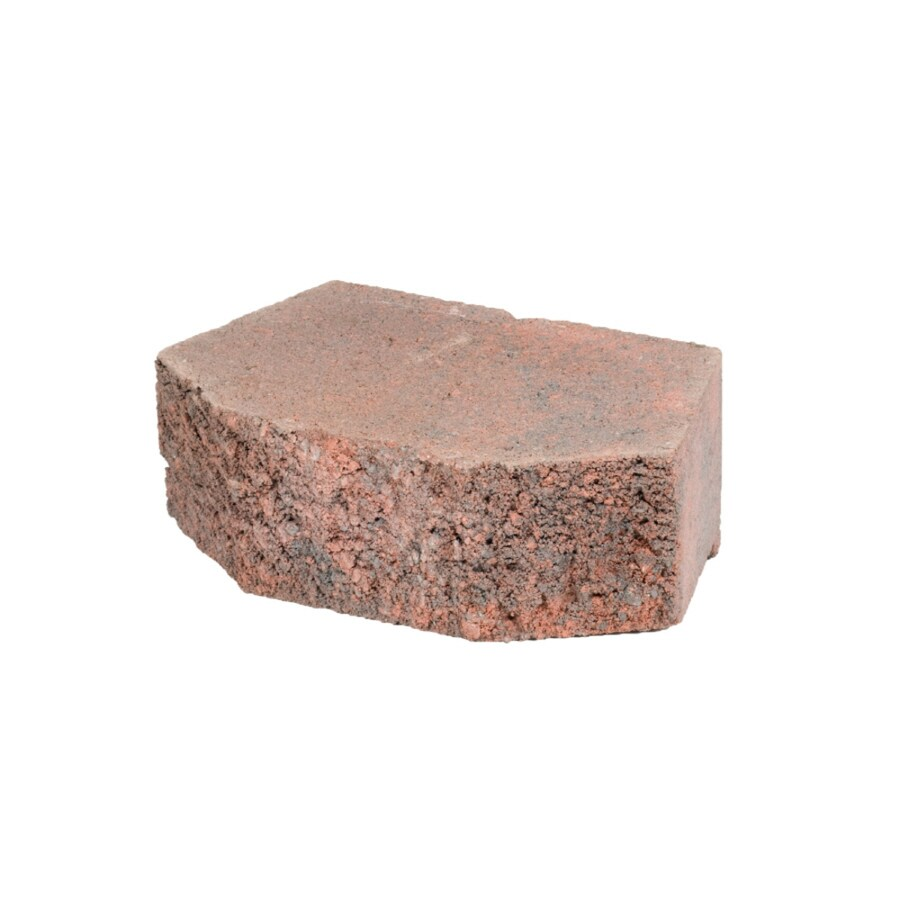Red/Charcoal Beveled Concrete Retaining Wall Block (Common: 12-in x 4-in; Actual: 11.5-in x 4-in)
