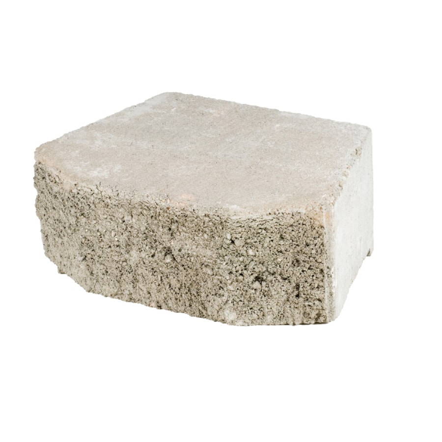 Gray Beveled Concrete Retaining Wall Block (Common: 16-in x 6-in; Actual: 15.8-in x 6-in)