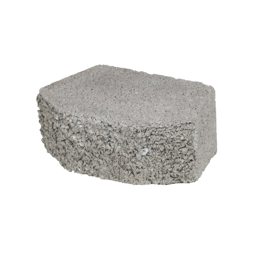 Gray Basic Concrete Retaining Wall Block (Common: 8-in x 3-in; Actual: 6.1-in x 3-in)