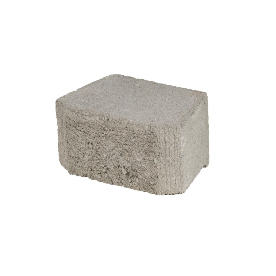 Oldcastle Gray Beveled Concrete Retaining Wall Block (Common: 8-in x 4-in; Actual: 8.1-in x 3-in)