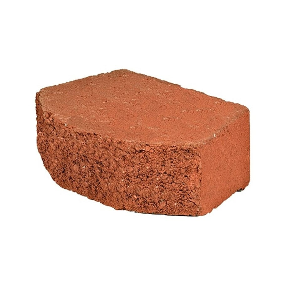 Red Beveled Concrete Retaining Wall Block (Common: 12-in x 4-in; Actual: 11.5-in x 4-in)