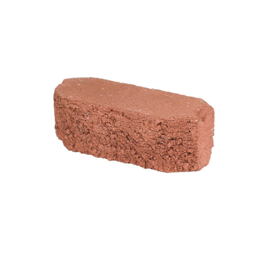 Oldcastle Fulton Red Double Split Retaining Wall Block (Common: 12-in x 4-in; Actual: 12-in x 4-in)