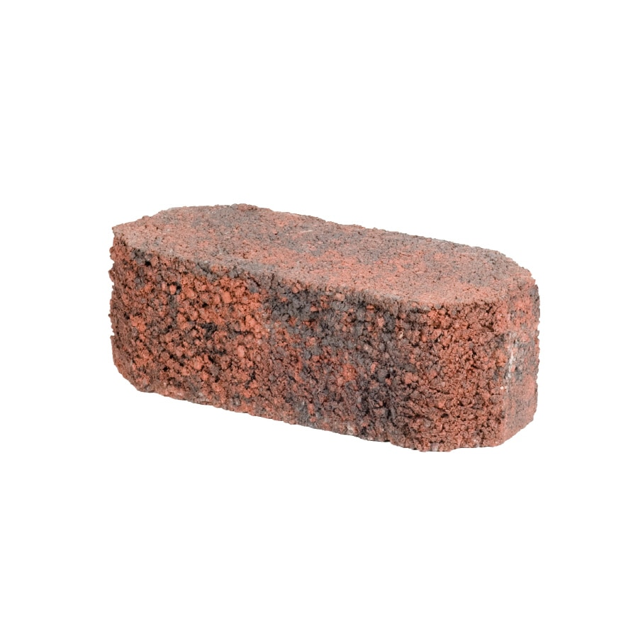Oldcastle Fulton Red/Charcoal Double Split Retaining Wall Block (Common: 12-in x 4-in; Actual: 12-in x 4-in)