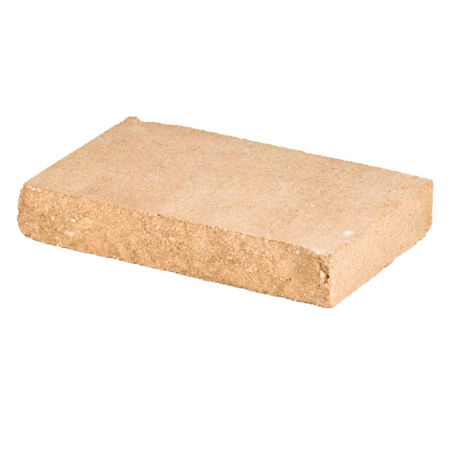 Sand/Tan Chiseled Concrete Retaining Wall Cap (Common: 12-in x 2-in; Actual: 12-in x 2-in)