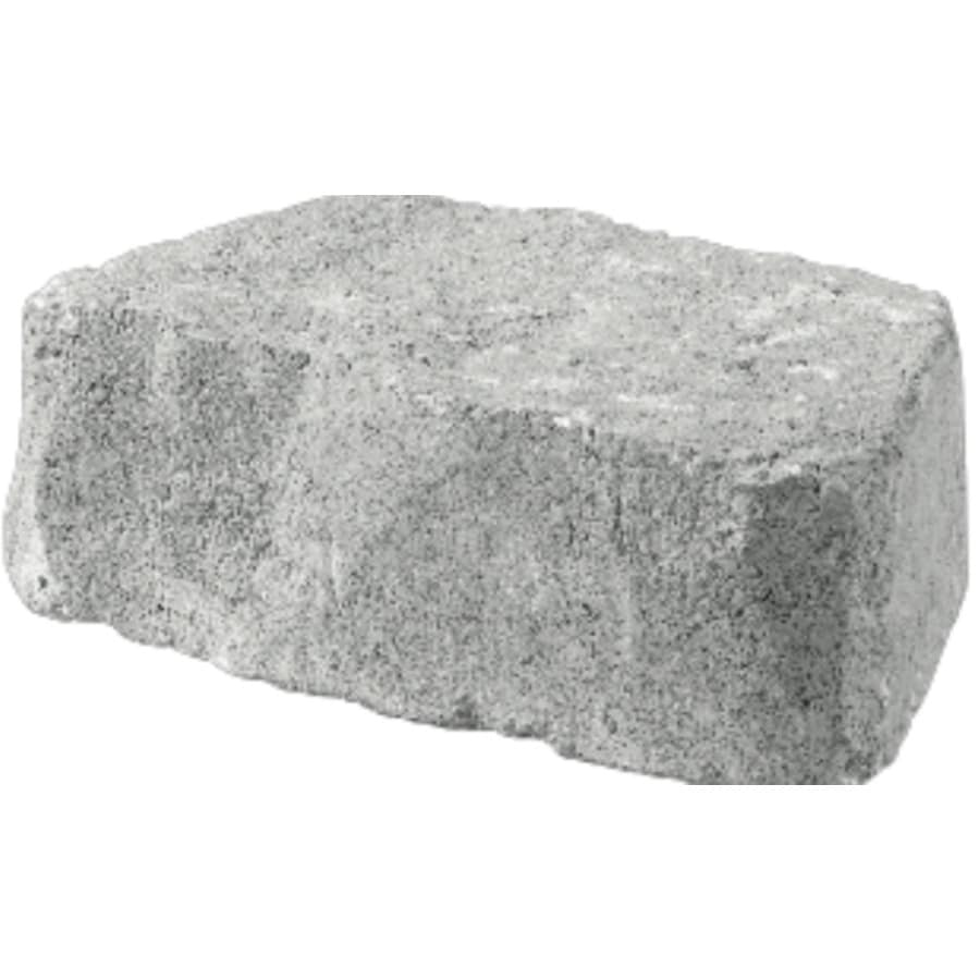 allen + roth Bertram 12-in L x 4-in H Gray/Charcoal Flagstone Retaining Wall Block (Actuals 11.6-in L x 4-in H)