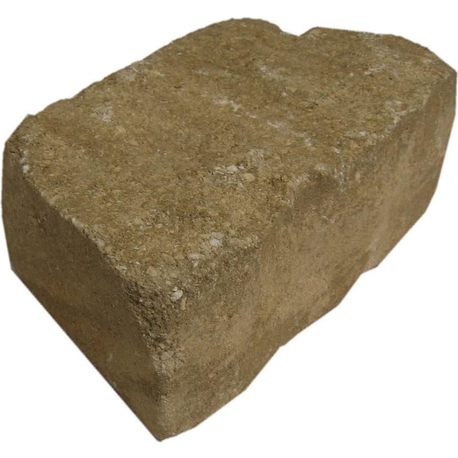 allen + roth Bertram 12-in L x 4-in H Sand/Beige Flagstone Retaining Wall Block (Actuals 11.6-in L x 4-in H)