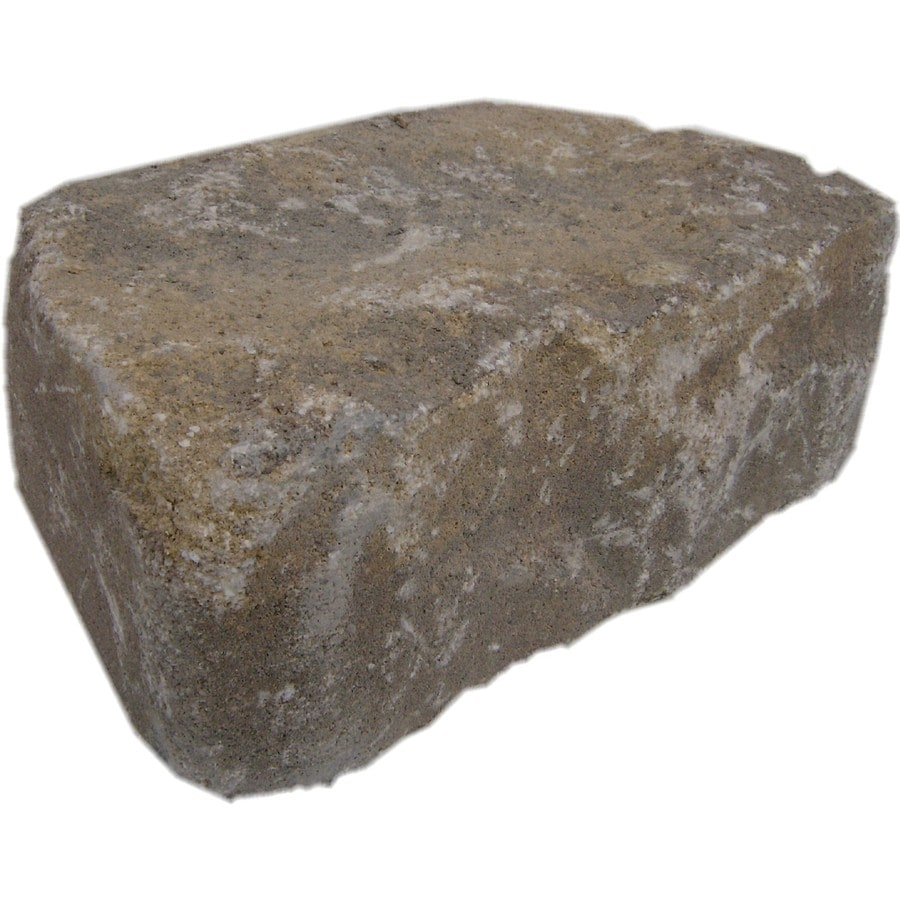 Harvest Blend Tumbled Concrete Retaining Wall Block (Common: 11-in x 4-in; Actual: 11.6-in x 4-in)