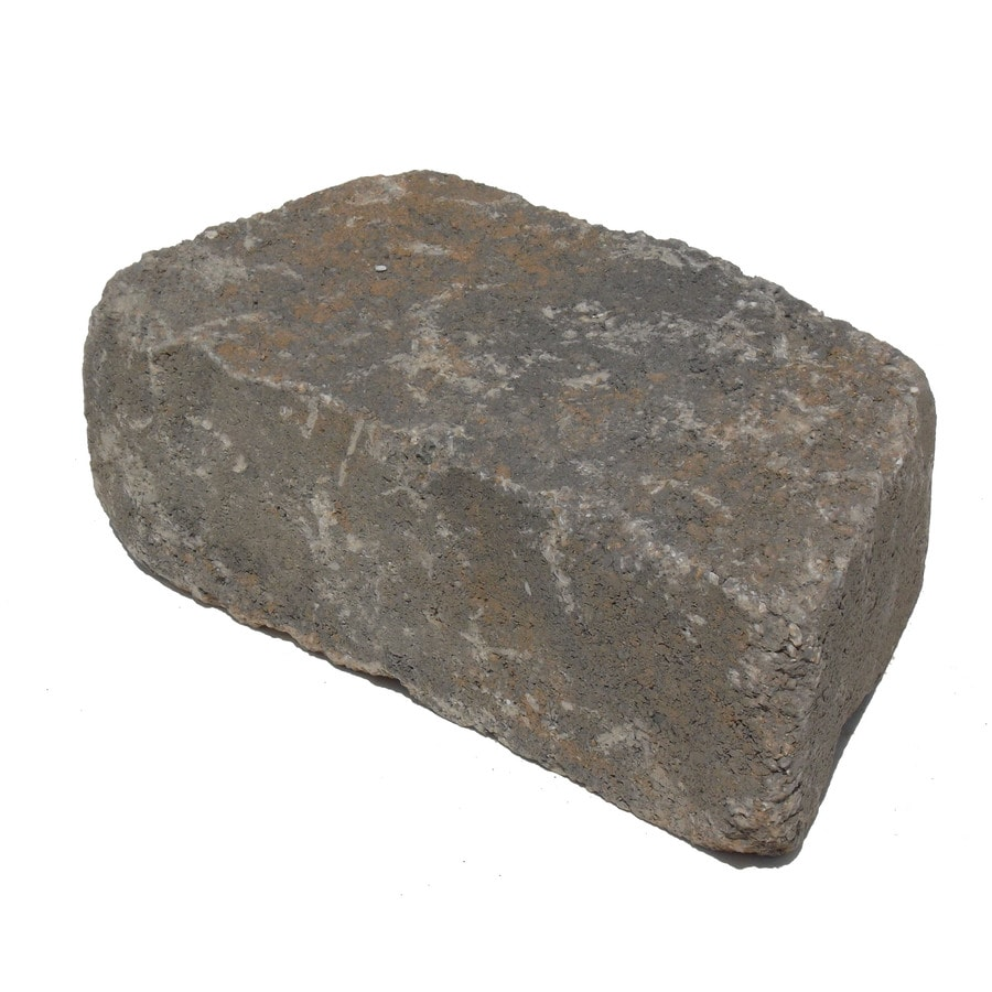 Arcadian Tumbled Concrete Retaining Wall Block (Common: 11-in x 4-in; Actual: 11.6-in x 4-in)