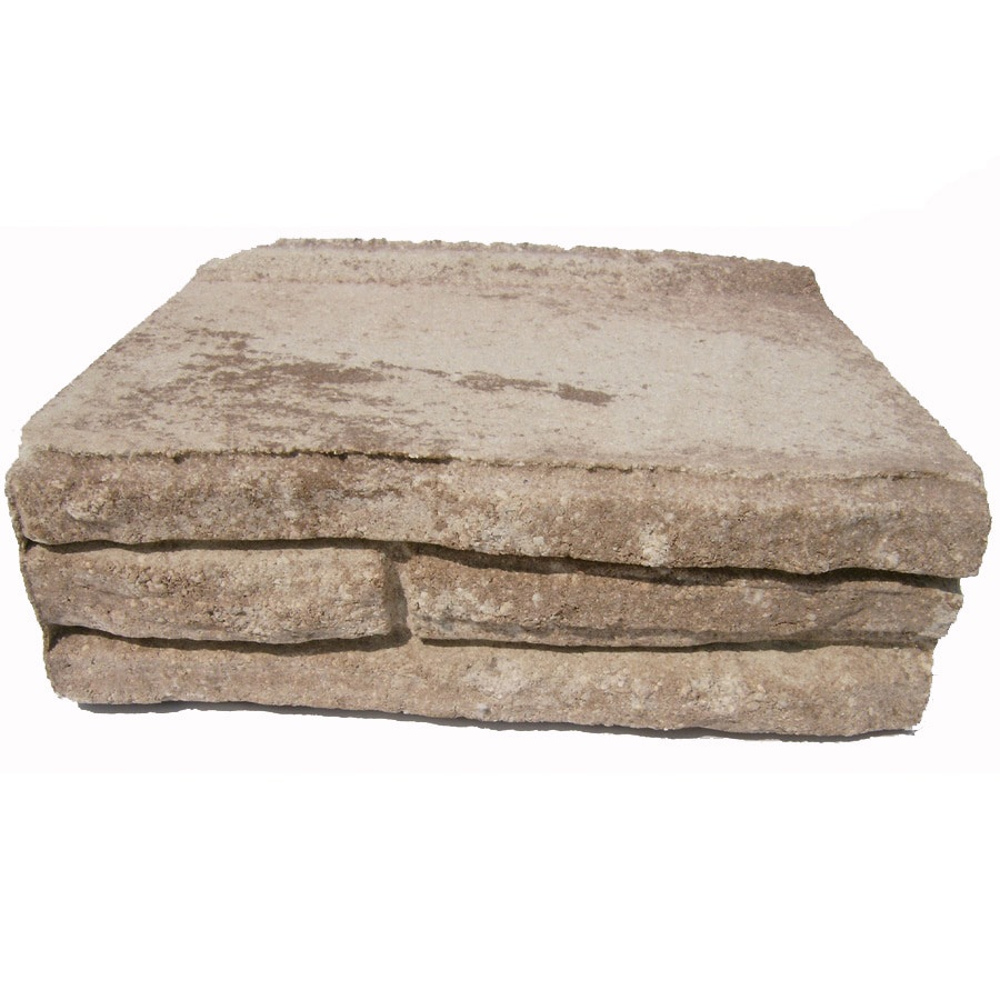 Sand/Tan Stacked Stone Concrete Retaining Wall Block (Common: 12-in x 4-in; Actual: 12-in x 4-in)