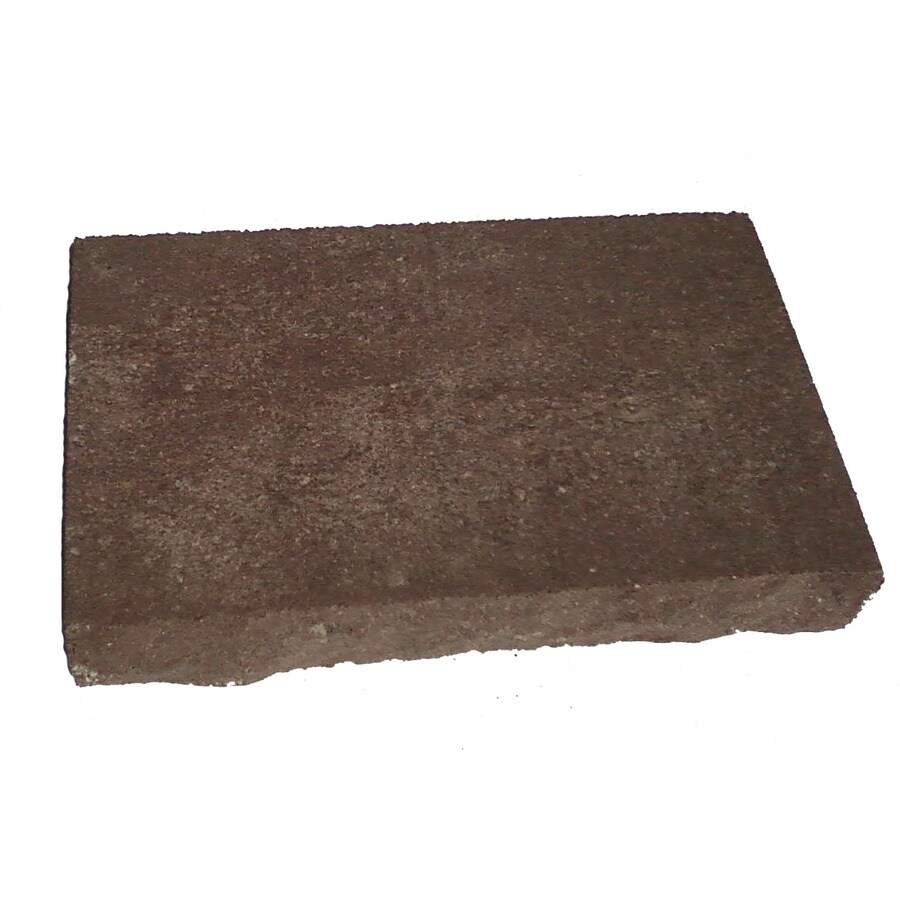 Limestone/Brown Chiseled Concrete Retaining Wall Cap (Common: 12-in x 2-in; Actual: 12-in x 2.3-in)