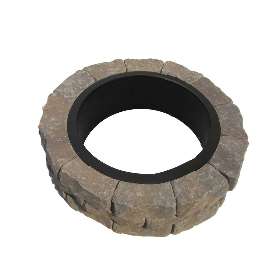 Tranquil Blend Flagstone Fire Pit Patio Block Project Kit