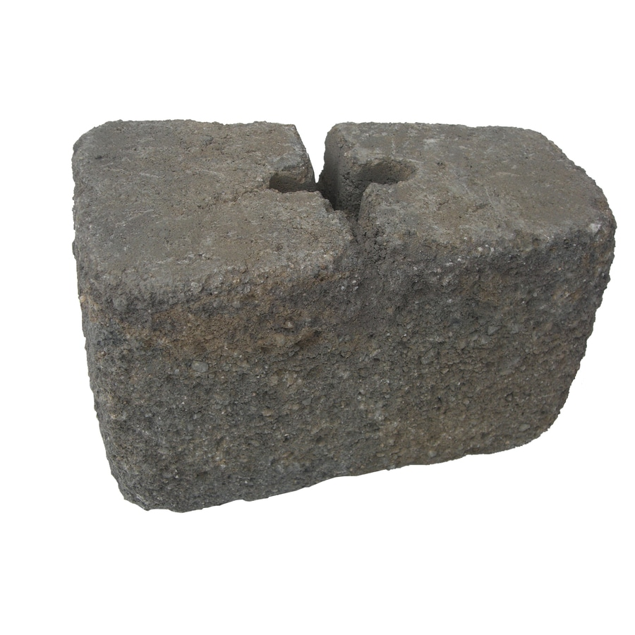Tranquil Blend Tumbled Concrete Retaining Wall Block (Common: 6-in x 6-in; Actual: 6-in x 6-in)
