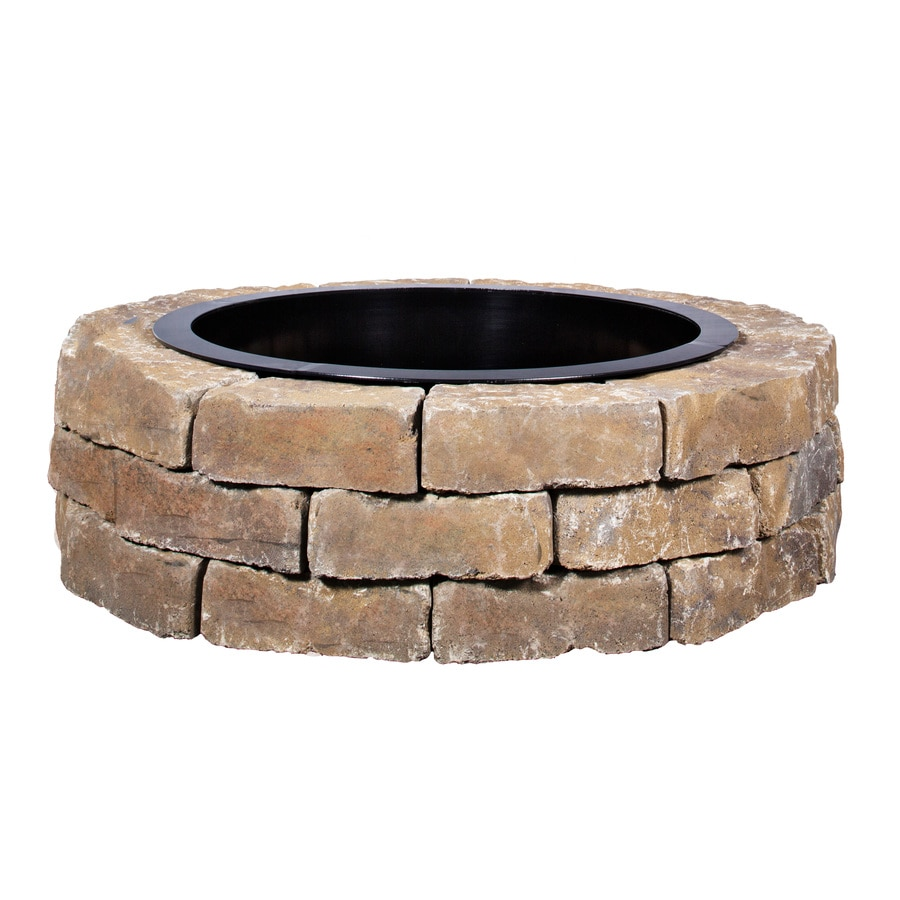 shop ashland flagstone fire pit patio block project kit at. Black Bedroom Furniture Sets. Home Design Ideas