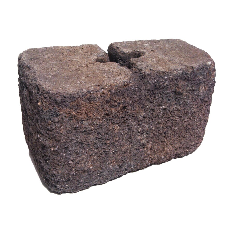 Basalt Blend Tumbled Concrete Retaining Wall Block (Common: 6-in x 6-in; Actual: 6-in x 6-in)