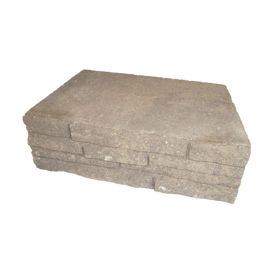 Arcadian Stacked Stone Concrete Retaining Wall Block (Common: 12-in x 4-in; Actual: 12-in x 4-in)