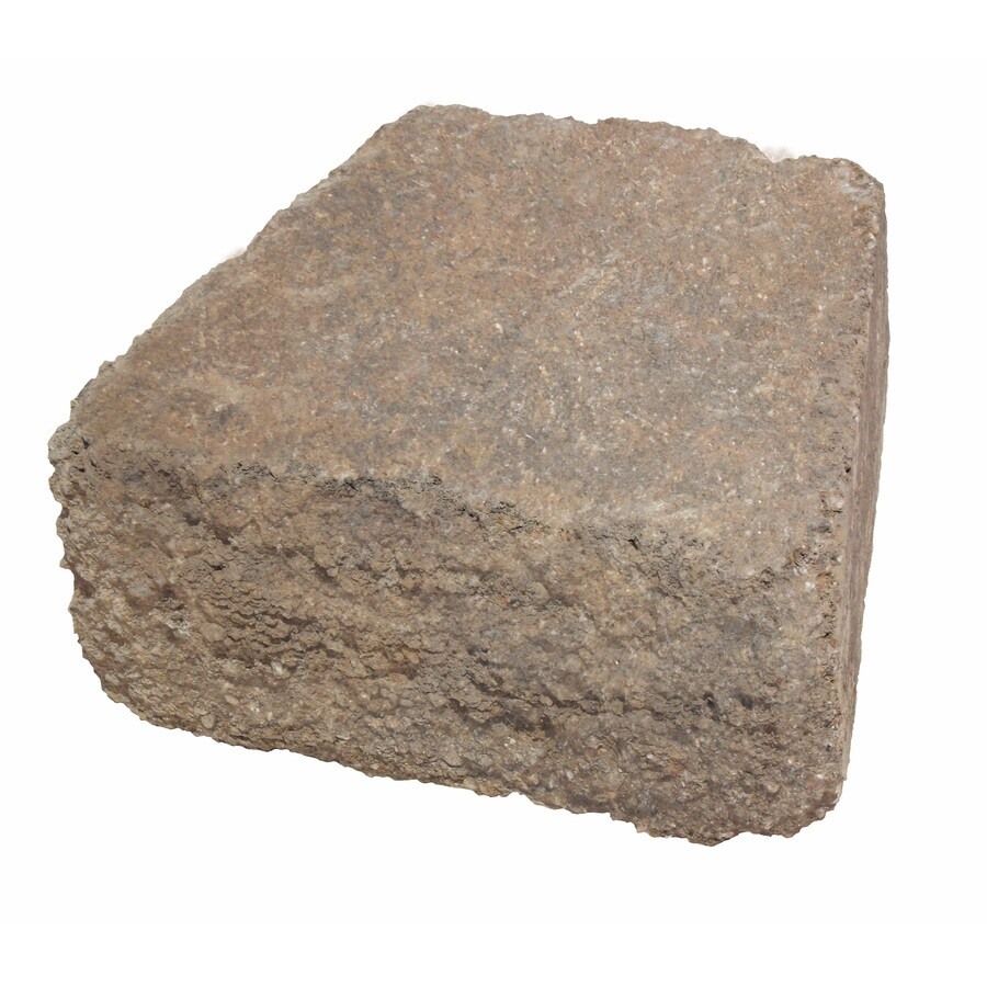 Duncan Tumbled Concrete Retaining Wall Block (Common: 9-in x 4-in; Actual: 8.6-in x 3.8-in)