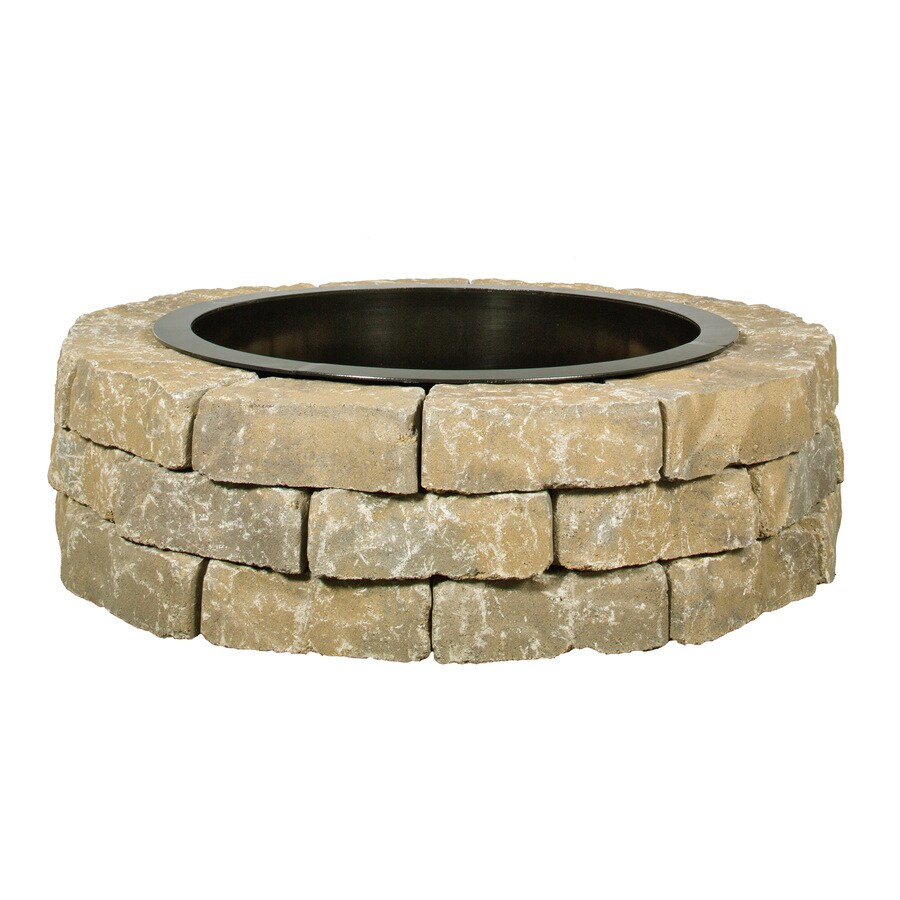 Peyton Blend Fire Pit Patio Block Project Kit