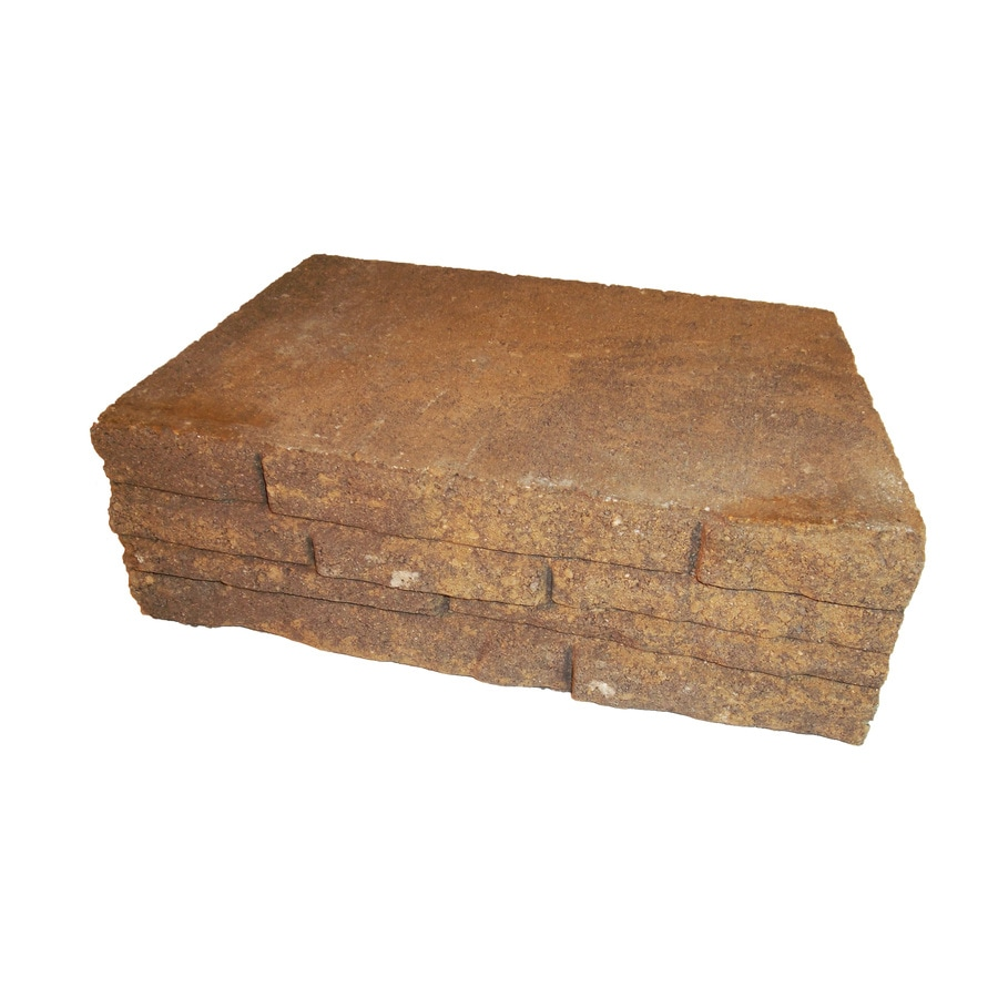 Chandler Stacked Stone Concrete Retaining Wall Block (Common: 12-in x 4-in; Actual: 12-in x 4-in)