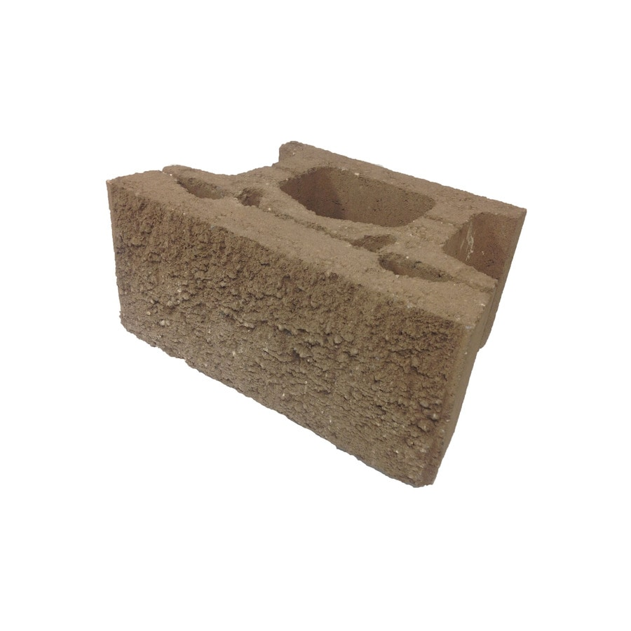 Brown Straight Concrete Retaining Wall Block (Common: 18-in x 8-in; Actual: 18-in x 8-in)