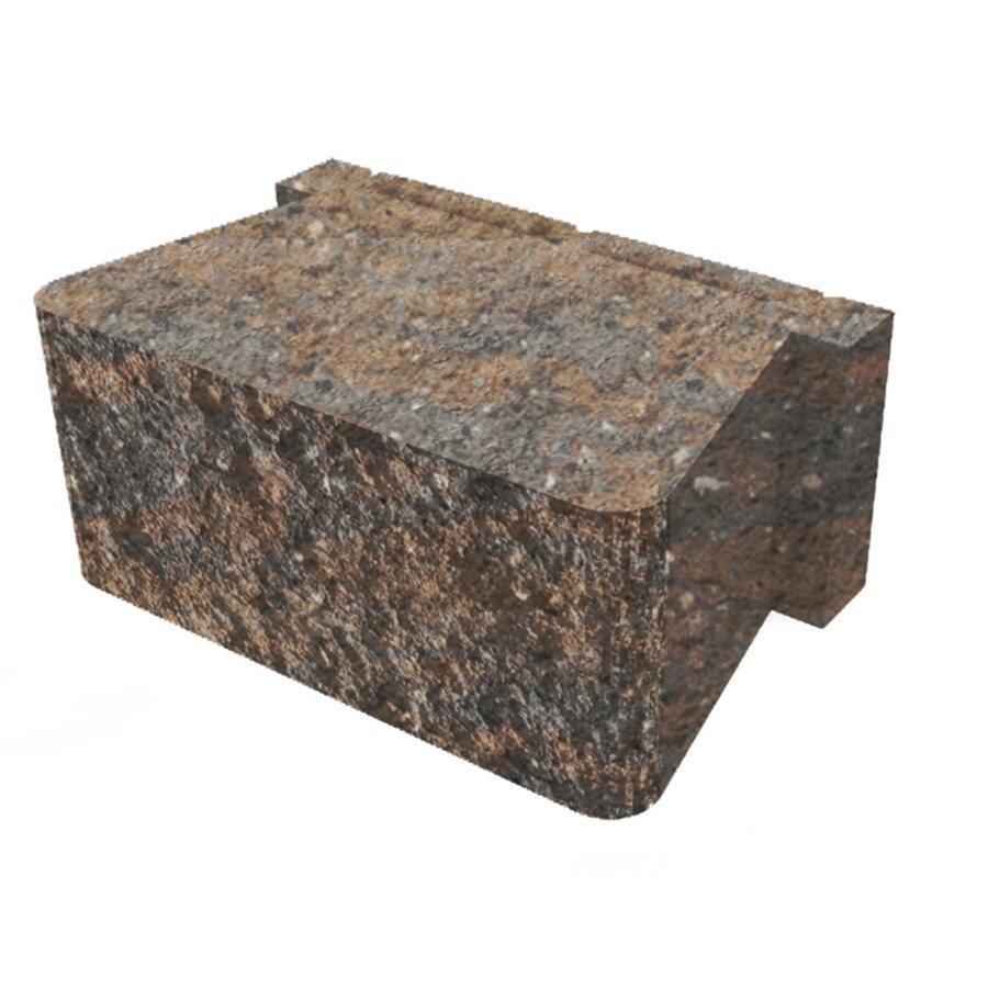Sheffield Straight Concrete Retaining Wall Block (Common: 16-in x 5-in; Actual: 16-in x 5.3-in)